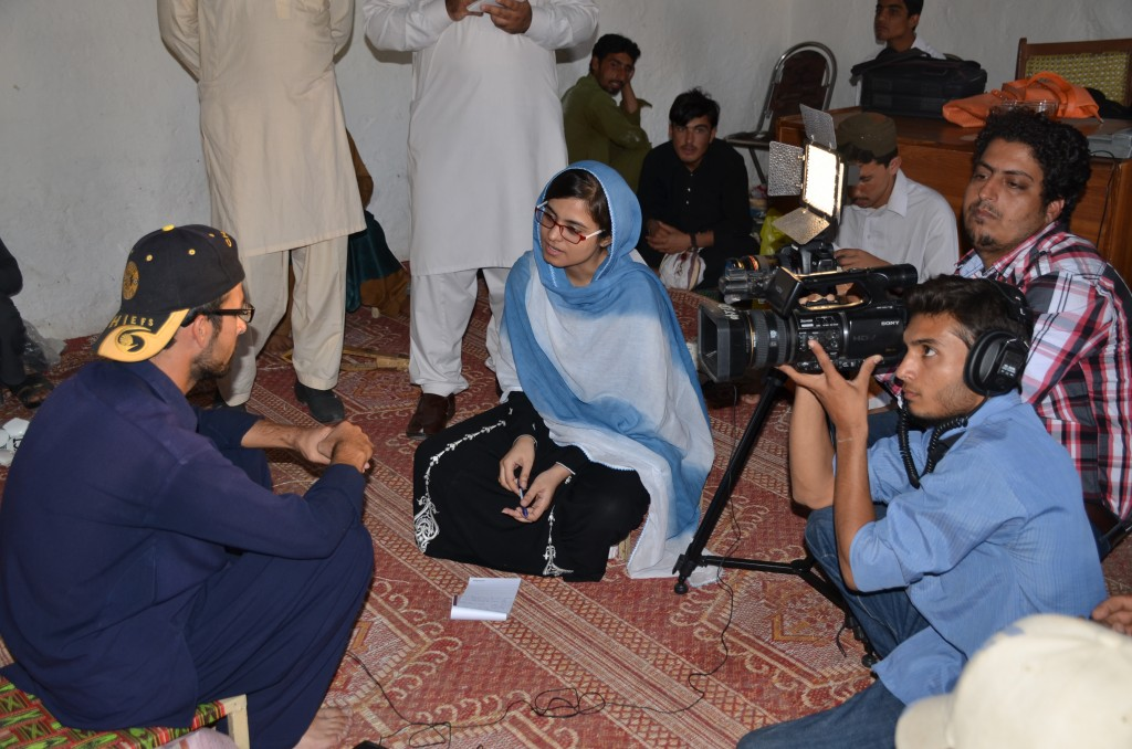 Arooj Zahra during interview