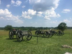 Gettysburg battlefield wagons