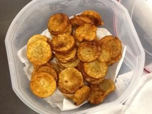 A bucket of Uganda's version of pancakes that Nancy made.