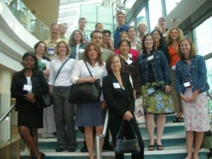 With fellow awardees of the John Knight Health Reporting Fellowship in Atlanta, Georgia, during the fellowhip in 2006.